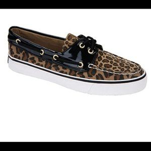 Cheetah Print Sperry Boat Shoes 7.5